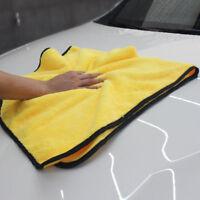 Jaune grande microfibre de nettoyage de voiture de séchage serviette no-Scratch