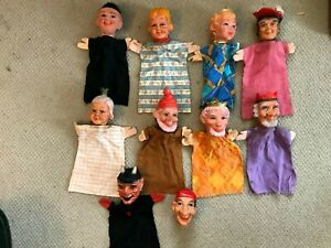 MR. ROGERS HAND PUPPETS NINE FIGURES AND ONE HEAD VINTAGE CHILD'S TOY