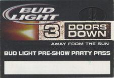 3 Doors Down 2002 Tour Backstage Pass Aso
