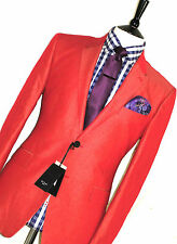 BNWT MENS PAUL SMITH LONDON BURNT ORANGE TONIC SKINHEAD TAILOR-MADE SUIT 44R W38