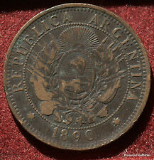 2 CENTAVOS 1890 .ARGENTINA REPUBLICA MA52