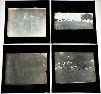 Girl Guides Set of 4 Vintage 1920s Magic Lantern Slides