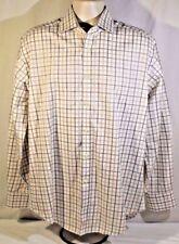 Thomas Dean Long Sleeve Size Large L 100% Cotton Flip Cuff
