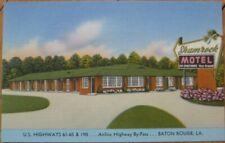 Baton Rouge, LA 1940 Linen Postcard: Shamrock Motel - Louisiana