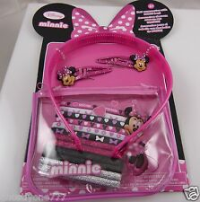 Disney Minnie Mouse  Hair accessories.  pouch headband barrettes set