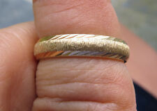 New Old Stock 14kt  Gold Wedding Band  6 size,3.1 grams Light Catching Edges