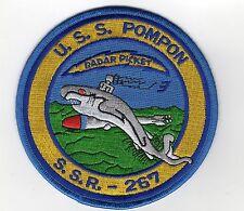 USS Pompon SS 267 (SSR 267) - Sub w/ Torpedo, Radar Picket BC Patch Cat No B627