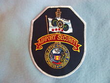 City of Chicago Airport Security Shoulder Patch Rare OLD ISSUE Collectible