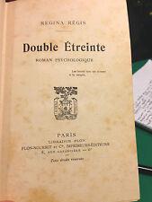 1912 REGINA REGIS - DOUBLE E'TREINTE - ROMAN PSYCHOLOGIQUE