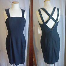 Women's Carmen Toranzo for Anne French Little Black Cocktail Dress-Sz 8-NWT-Bead