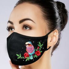 FaceMask Custom made Filter Pocket Washable Reusable Embroidery and Rhinestone