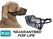 Guardian Gear LARGE DOG BLACK BASKET MUZZLE Quick Fit/Release Adjustable Safety
