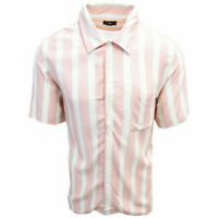 OBEY Men's Coral York Vertical Striped S/S Shirt (Retail $59.99) S02