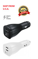 Car Charger Adapter Dual USB Port Quick Fast Charging for iPhone Samsung LG HTC