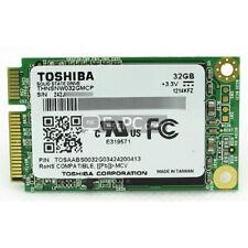 BRAND NEW Toshiba 32GB mSATA SSD Drive Solid State Disk Mini PCI-E THNSNW032GMCP
