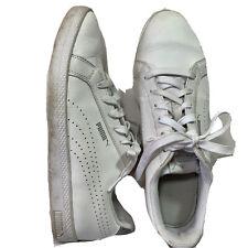 Retro Vintage Puma Leather Tennis Low top Court Shoes White Women's Size 9