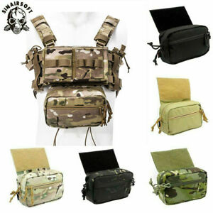 Tactical Drop Pouch Sub Abdominal Carrying Bag For Hunting Chest Rig Front Panel