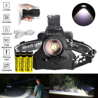Garberiel 200000LMS LED XHP50 Headlamp Headlight Zoomable Rechargeable Battery
