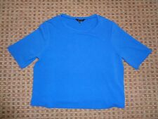 NEW LOOK-LADIES T-SHIRT TOP SIZE 18 CROP PARTY WORK FORMAL STRETCH CHRISTMAS