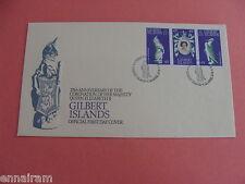 Queen Elizabeth II Silver Jubilee FDC 25 Coronation Gilbert Islands 1978 #1