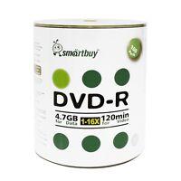 Smartbuy DVD-R 16X 4.7GB/120Min Logo Top (Non-Printable) Blank Media Record Disc