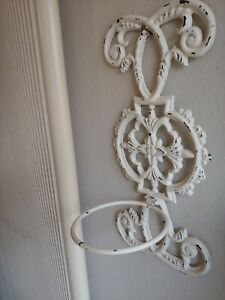 Wrought Iron Plant Holders Shabby Country Distressed White