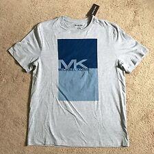 MICHAEL KORS Mens MK Logo Heather Grey Tee Shirt KS75GBFFV4 (Large) NWT $49.50