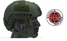 High Cut (Special Forces)  LVL IIIA Ballistic KEVLAR Helmet - OD Green
