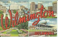 Greetings From Wilmington New Castle County Delaware 1946 Large Letter Postcard