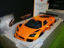 GUMPERT APPOLO S 2005 Orange au 1/18 AUTOART SIGNATURE 71302 voiture miniature