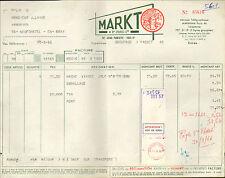 PARIS AVENUE PARMENTIER FACTURE MARKT HACHE VIANDE INDIEN 1966
