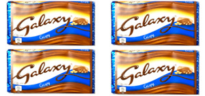 Galaxy Crispy Chocolate Bar Suitable for Vegetarians 4 x 102g
