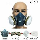7 in 1 Half Face  Respirator For Spraying Painting 7502 Gas Mask Facepiece Safe