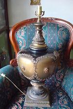Vintage L&L WMC TABLE LAMP GOTHIC Ceramic ornate  monumental table lamp
