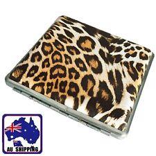 20 Cigarettes Cigarette Box Cigar Yellow Leopard Print Tobacco Case PU TCIB10401