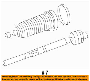 CHRYSLER OEM Steering Gear-Inner Tie Rod End 68157856AA