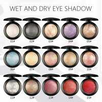 Shimmer Metallic Glitter Baked Eye Shadow Makeup Eyeshadow Pressed Powder w/