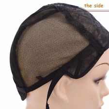 New black dome  Mesh full Wig Cap Stretch adjustable  Lace  weave Weaving Caps