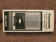 Vintage Panasonic RQ-2103 Slim Line Portable Cassette Tape Recorder - Complete
