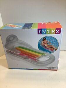 Intex Lounge - King Kool Inflatable Swimming Pool Float Rainbow -  NEW