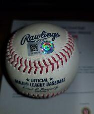 Chance Sisco Autographed Baltimore Orioles Game Used Baseball 2018 vs Tampa Bay