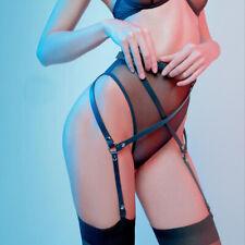 Women Erotic Leather Harness Garter Thigh Bondage BDSM Suspender Sexy Goth Belts