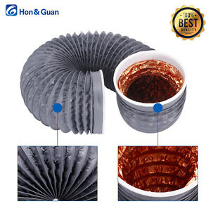 "Hon&Guan 4""5""6"" Aluminum Foil PVC Flexible Air Ventilation Duct Hose Pipe  2m/3m"