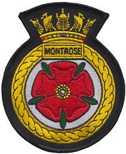 HMS Montrose Royal Navy RN Surface Fleet Crest MOD Embroidered Patch