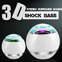Mini Wireless Bluetooth Speaker Subwoofer LED Stereo Sound For iPhone/Android