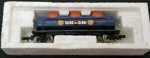 BACHMANN N: Union 76 U.C.O.X. #10162 TANK CAR, BLUE. From Consolidation set