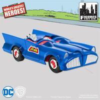NEW RETRO BATMAN and ROBIN DC Comics Blue Batmobile Playset  sealed mib