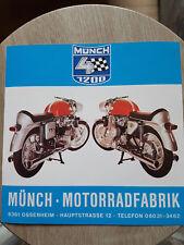 Prospekt Sales Brochure Münch 4 Horex 1400 TI Technische Daten Motorrad Moped