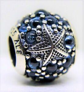 Genuine Pandora Oceanic Starfish Blue 791905CZF Charm S925 ALE