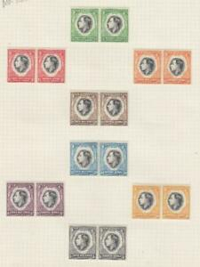 SOUTH WEST AFRICA (MK7125) # 125-132 VF-MH 1937 KGVI CORONATION PAIRS ISSUE
